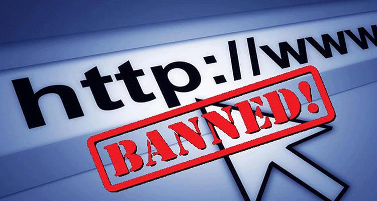 Санкции против сайта
